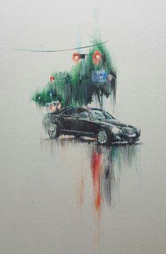 비오는날 Illustration, Illustrations