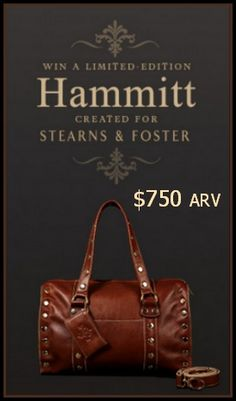 Snag one of 24 $750 Limited Edition #Hammitt #Bags! http://www.styledecordeals.com/2014/09/win-limited-edition-hammitt-bag.html