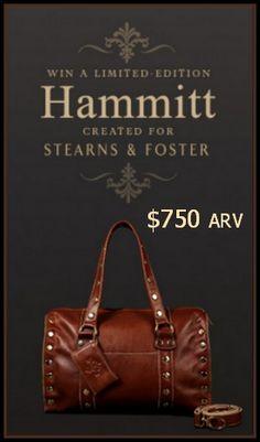 Snag one of 24 $750 Limited Edition #Hammitt #Bags! http://www.styledecordeals.com/2014/09/win-limited-edition-hammitt-bag.html