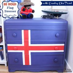 BE BOLD: A Flag Dresser Transformation {with Country Chic Paint} - The Happy Housie
