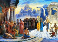 Prince Ram returns to Ayodhya.