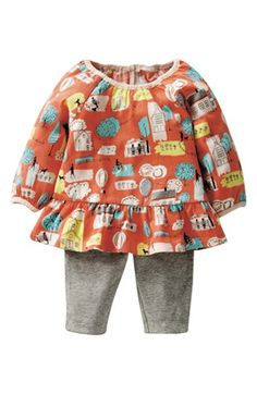 Mini Boden Print Jersey Tunic & Leggings (Baby Girls) available at #Nordstrom