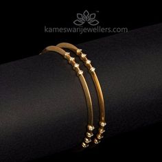 Elegant gold bangles collections by Kameswari Jewellers. Buy gold bangles online from South India's finest goldsmiths with 9 decades of expertise. Gold Bangles Design, Gold Earrings Designs, Gold Jewellery Design, Indian Gold Jewellery, Amrapali Jewellery, Gold Designs, Bracelet Designs, Diamond Bangle, Diamond Jewelry