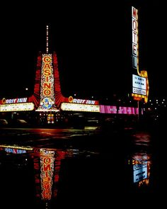 Orbit Inn 1970. Las Vegas, Neon Lips, Vintage Neon Signs, Vintage Hotels, Polaroid Photos, Light Architecture, Empire State Building, Signage, Old Things