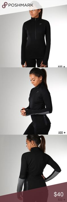 NWT GYMSHARK IMPULSE PULLOVER S The Gymshark Impulse Pullover is a workout pullover with a 1/2 zip. Made with our lightweight and sumptuously soft polyester/rayon blend, the Impulse Pullover is an ideal workout outer-layer.  - 1/2 Zip - Colour contrast Panel - Thumb holes - Size Small  66% Polyester, 28% Rayon, 6% Elastane  Brand new in bag with tags! Only taken out once to try on - just a bit tighter than I'd like it to be  Tags: LVFT, Live Fit, lululemon, Alphalete, Nike, Under Armour…