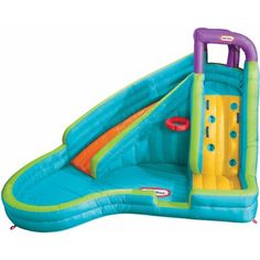 "Little Tikes Slam 'n Curve Inflatable Water Slide $263 10'8""L x 13'1""W x 7'9""H"