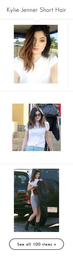 """""""Kylie Jenner Short Hair"""" by anewperspective ❤ liked on Polyvore featuring hair, kylie jenner, kylie, people, pics, shorts, polka dot shorts, star shorts, short shorts and ombre shorts"""