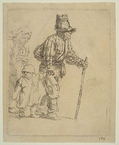 Peasant Family on the Tramp Rembrandt (Rembrandt van Rijn)  (Dutch, Leiden 1606–1669 Amsterdam) Date: ca. 1652 Medium: Etching Classification: Prints Credit Line: Bequest of Harry G. Friedman, 1965 Accession Number: 66.521.38 Not on view
