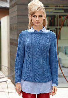 Bluebell Pull, Pull-over - Tutoriels de tricot chez Makerist
