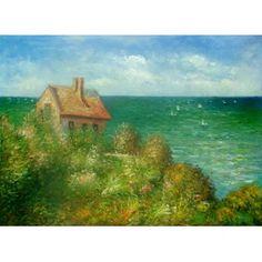 Monet - The Coastguard's Cottage at Pourville Oil Painting  www.overarts.com