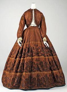 Historical fashion and costume design. Civil War Fashion, 1800s Fashion, 19th Century Fashion, Victorian Fashion, Vintage Fashion, Victorian Gown, Fashion Fashion, Vintage Gowns, Vintage Outfits