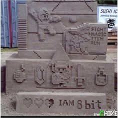 Awesome kind of sand castle!