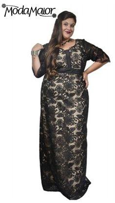 46 melhores imagens de Vestidos de Festa Longos Plus Size  534cff55ab1f