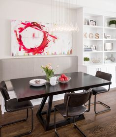Built In Wall Units, Wall Unit Designs, Canadian Art, Built Ins, Dining Table, The Originals, Canvas, Magic Art, Furniture