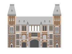 Rijksmuseum, Amsterdam - illustration http://www.saskiarasink.nl