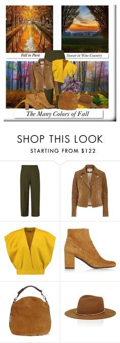"""""""The Colors of Fall"""" by onesweetthing ❤ liked on Polyvore featuring White Label, Maison Margiela, River Island, Jil Sander, Yves Saint Laurent, UGG and Janessa Leone"""