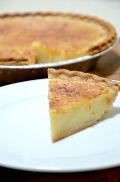 My mom's recipe for the BEST egg custard pie. A perfect dessert anytime of the year. // JessicaNWood.com