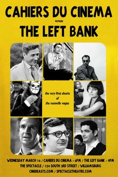 banking poster Cahiers du Cinema vs The Left Bank poster Francois Truffaut, Happy, Magazines, Movie Posters, Happiness, Illustration, Art, Movies, Smooth Skin