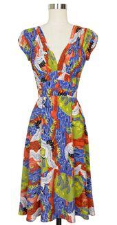 Trashy Diva 1940's Dress cg-d03-cranes