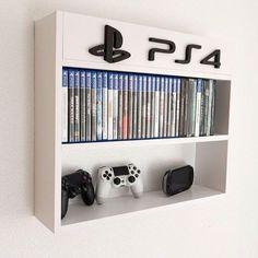 Game shelf, xbox, nintendo – Me Casa – Game Room İdeas 2020 Boys Game Room, Boy Room, Game Room Basement, Boys Bedroom Decor, Teen Bedroom, Bedroom Ideas, Bedroom Games, Boy Bedrooms, Xbox