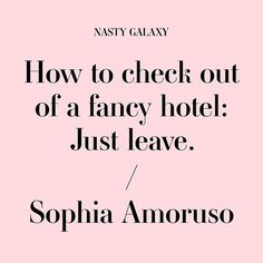 Travel tips: DGAF. How-to guides for misfits, direct from #NastyGalaxy, @SophiaAmoruso's new book. Pre-order now.