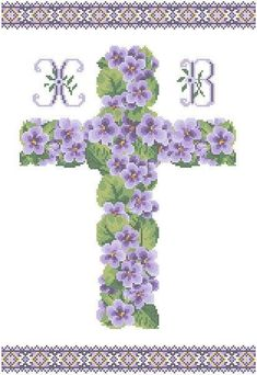 Altar Cloth, Counted Cross Stitch Patterns, Amazing Flowers, Knit Crochet, Easter, Symbols, Letters, Knitting, Crafts