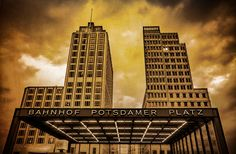 Robert Emmerich - 24 Sepia A cloudy day at the Potsdamer Platz as old picture in Berlin - Germany