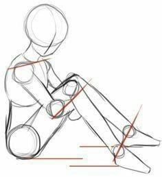 Sitting, body position; How to Draw Manga/Anime