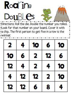 Lots of seasonal doubles games.  Doubles Board Games.pdf