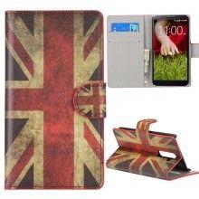 Funda LG G2 - Flip Libro Bandera UK  $ 84,21