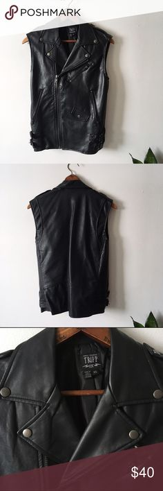 Tripp Nyc Oversize Moto Vest Bought NWOT from another posher but never worn. Tripp nyc Jackets & Coats Vests