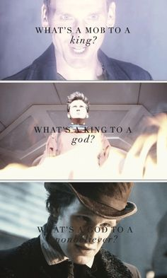 Doctor Who, 9, 10, and 11 (Whovian version of No Church in the Wild)