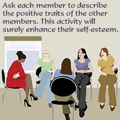 Good activity, esp for groups with members who have been with each other for a while.
