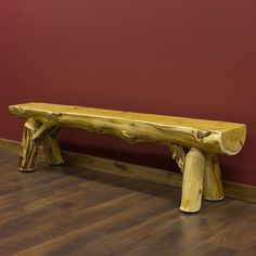 Cedar Lake Half Log Bench......Jackie check out their site :)