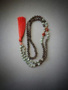 108 mala beads smoky quartz mala root chakra japa mala by shopOOLA