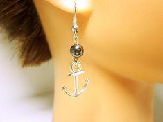 Silver Anchor Nautical Wedding Pearl Accent Bead Silver Nautical Anchor Gift Idea For Her Beautiful Silver Anchor Earrings Nautical Jewellery For. Nautical Earrings, Anchor Earrings, Nautical Jewelry, Jade Jewelry, Cheap Jewelry, Silver Jewelry, Wooden Jewelry, Wedding Jewellery Gifts, Jewelry Gifts