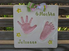 Items similar to Footprint and Handprint Ornaments in Ceramic, Keepsake of your Baby, Birth Announcement for Special Occasion on Etsy Hand Print Mold, Baby Handprint Kit, Baby Mold, Handmade Baby, Handmade Gifts, Baby Kit, Baby Footprints, Baby Memories, Baby Hands
