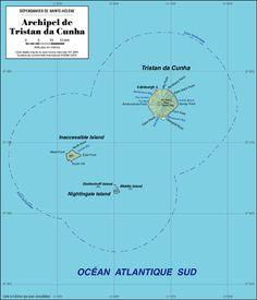 Tristan Da Cunha The Worlds Most Remote Island Archipelago And - Tristan da cunha map