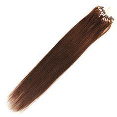 Moresoo 22inch dark brown 4# Micro ring human hair extensions 100gram Moresoo http://www.amazon.de/dp/B00UUOPC90/ref=cm_sw_r_pi_dp_wJeqvb1TX8K6E Welcome to order it!