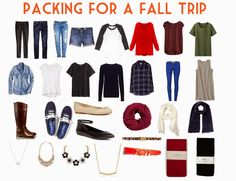 Packing Tips And Tricks for a Fall Trip: What to Pack / Kate the Almost Great via hellorigby!