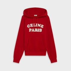 Shop sweater 'Celine Paris' in cotton cashmere and discover the latest t-shirts & sweatshirts collections on CELINE Official Website Sweater Shop, Sweater Hoodie, Trendy Hoodies, Latest T Shirt, Hooded Sweatshirts, Cool Outfits, Cashmere, Graphic Sweatshirt, Outfits