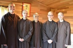 Brothers at Blue Cliff Monastery