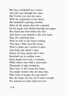 She had a bookshelf for a heart