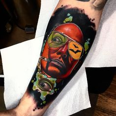 Tattoo artist Andrew Little Andy Marsh authors abstract color surrealistic tattoo   UK