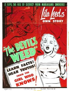 #w33daddict #Marijuana #ReeferMadness #Vintage