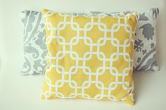 I know I can sew this because I just made this yellow pillow! Not this one specifically, but identical.