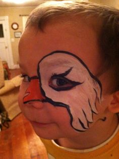 Eagle face painting