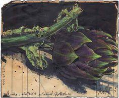 """""""Artig, aber nicht schockiert"""" 17 x 21 cm Federzeichnung, Aquarell, Farbstift D535 27.12.2016"""
