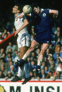 Everton 1 West Ham 1 in April 1980 at Villa Park. Mick Lyons heads clear from Trevor Brooking in the FA Cup Semi Final. Trevor Brooking, Villa Park, Everton Fc, West Ham, Semi Final, Fa Cup, Image Collection, Kicks, The Unit