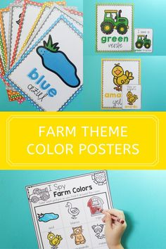 These Preschool Farm Animals Color Posters and I Spy Color Game from Life Over C's are a great way to get your kids excited about colors! Just print them out for a fun and interactive preschool activity! Grab these free printables! Preschool Farm, Preschool Colors, Teaching Colors, Toddler Preschool, Animal Activities, Color Activities, Literacy Activities, Children Activities, Free Activities